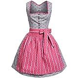 Almsach Dirndl Natalie in grau und rosa