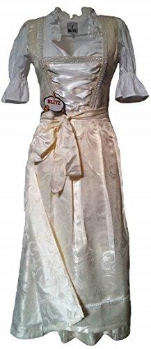 3 tlg. Trachtenkleid inkl. Bluse und Schürze in creme