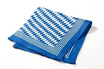 Breiter – Nickituch mit bayerischer Raute, Bayerntuch Trachtentuch, Tuch blau-weiß -