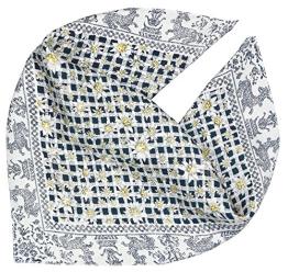Trachtentuch mit Swarovski-Kristallen verziert Hirsch Edelweiß dunkelblau