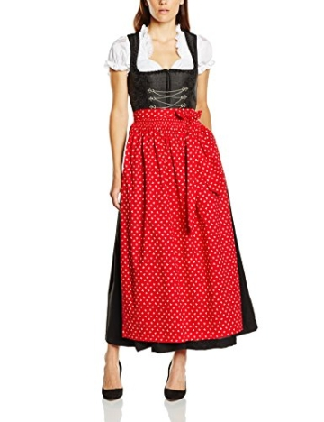 Stoiber Trachten Dirndl schwarz / rot A113152 - 9